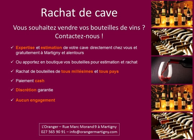 A4 paysage flyer rachat cave