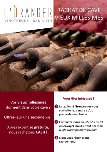 Flyer rachat de cave - old bottles